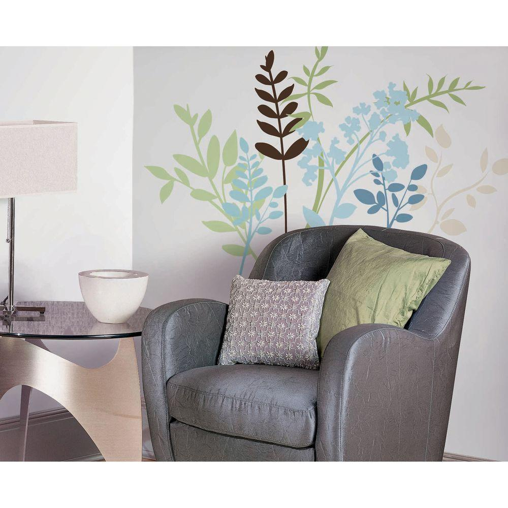 null Multi Branches Peel and Stick 23-Piece Wall Decals