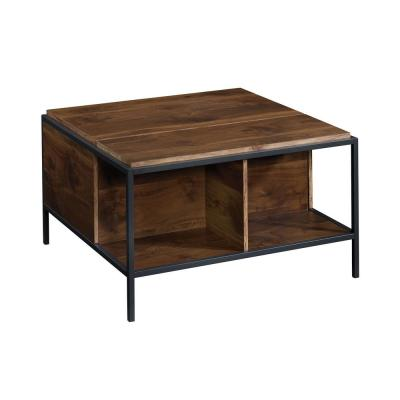 Nova 34 in. Brown Medium Square Composite Coffee Table with Lift Top