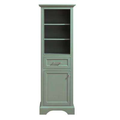 Mercer 22 in. W x 16 in. D x 65 in. H Linen Tower in Sea Green