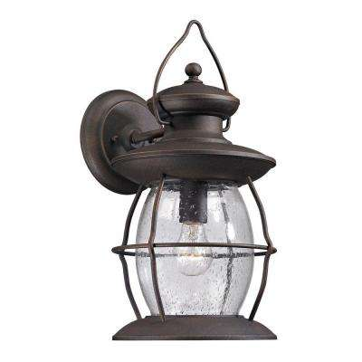 Big Oak Forge Collection 1-Light Weathered Charcoal Outdoor Sconce