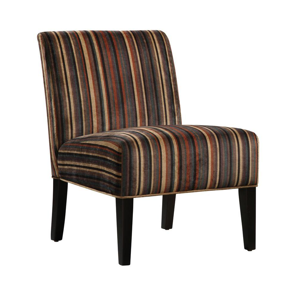 Home Decorators Collection Dark Stripe Lounge Chair-DISCONTINUED