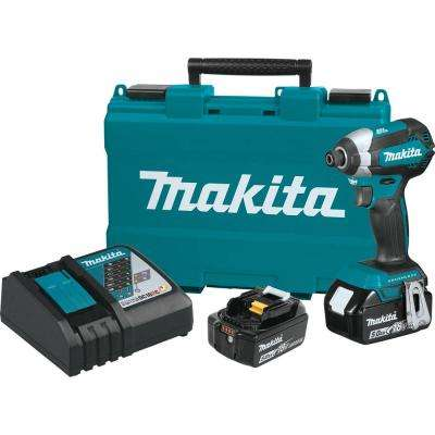 18-Volt LXT Lithium-Ion Brushless Cordless Impact Driver Kit with (2) Batteries 5.0Ah, Charger, Hard Case