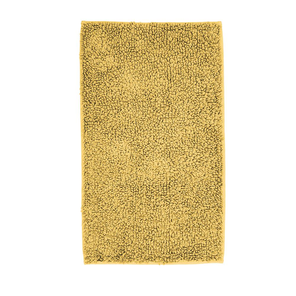 Chunky Loop Gold 24 in. x 24 in. Cotton Rubber Backed