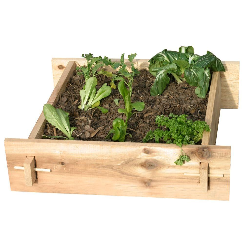 null 3 Ft. x 3 Ft. Shaker Style Raised Bed Gardening Bed-DISCONTINUED