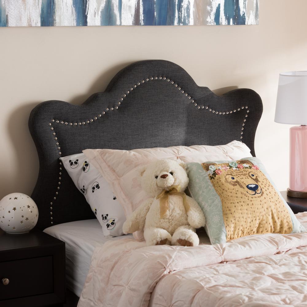 Avery Dark Gray Fabric Upholstered Twin Size Headboard