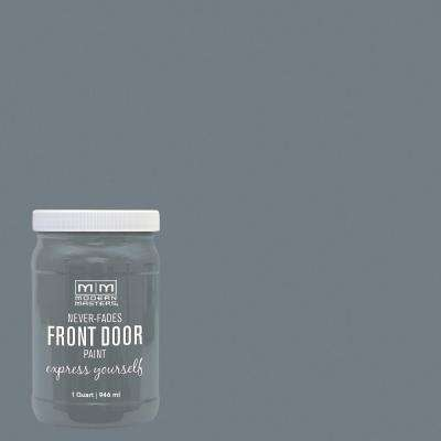 Express Yourself 1 qt. Satin Mysterious Gray Water-Based Front Door Paint