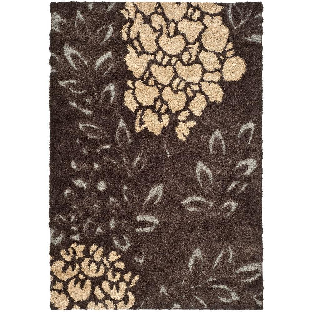 Safavieh florida shag gray beige 9 ft x 12 ft area rug for Grey and tan rug