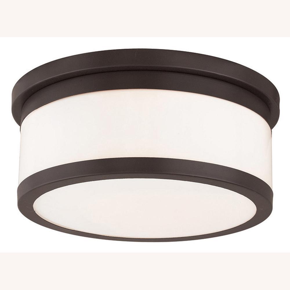 livex lighting stafford 3 light bronze flushmount 65503 07 the