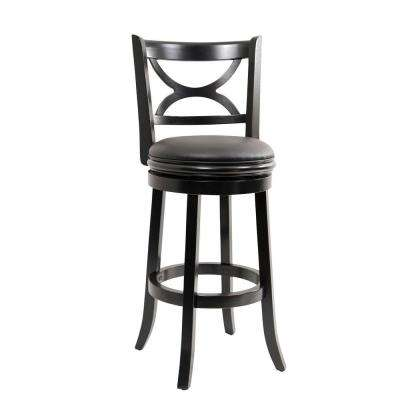 Florence 29 in. Black Swivel Cushioned Bar Stool
