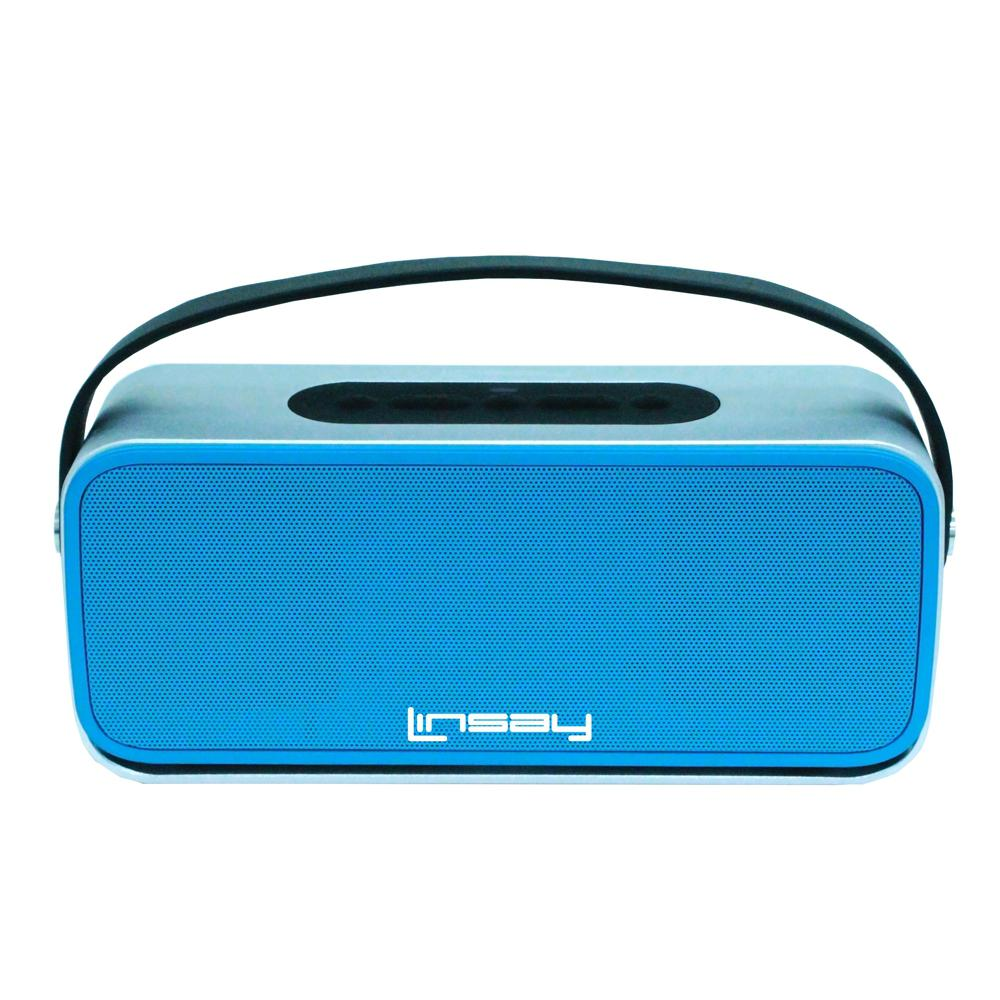 LINSAY High End Bluetooth Stereo Speaker, Blue