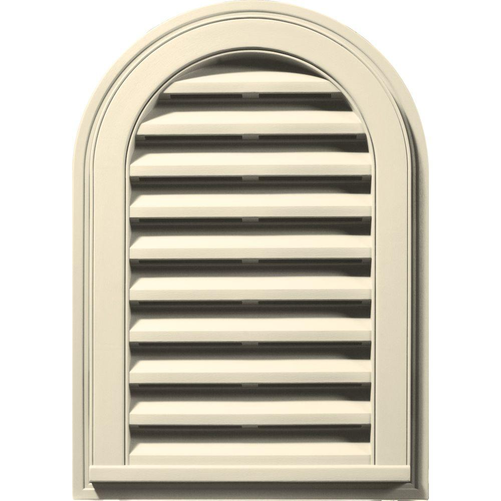 14 in. x 22 in. Round Top Gable Vent in Heritage