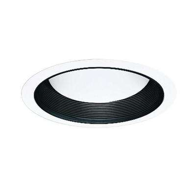 5001 Series 5 in. Black Recessed Ceiling Light Baffle Splay and White Trim