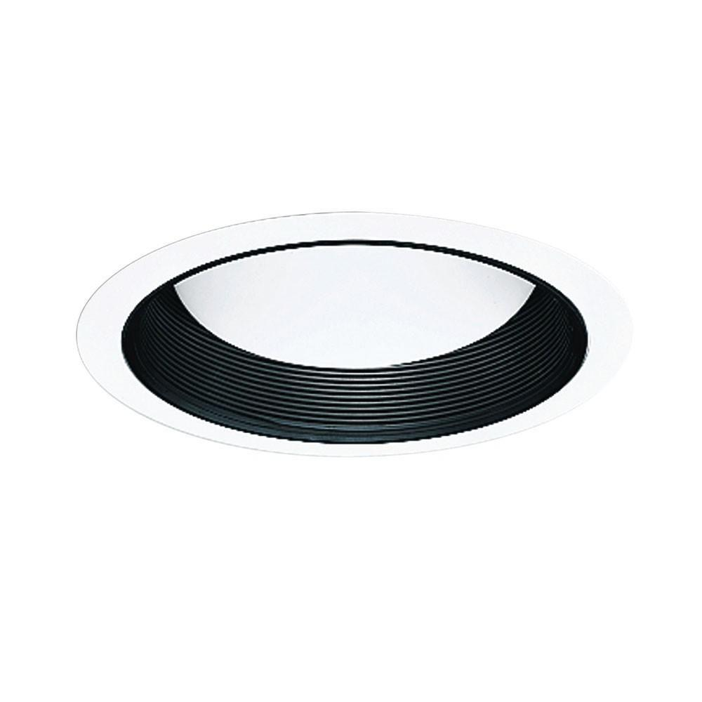 Halo All-Pro 6 in. Black Recessed Lighting Baffle with White Trim