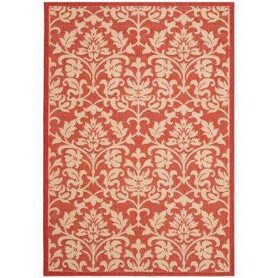 Courtyard Red/Natural 5 ft. x 8 ft. Indoor/Outdoor Area Rug