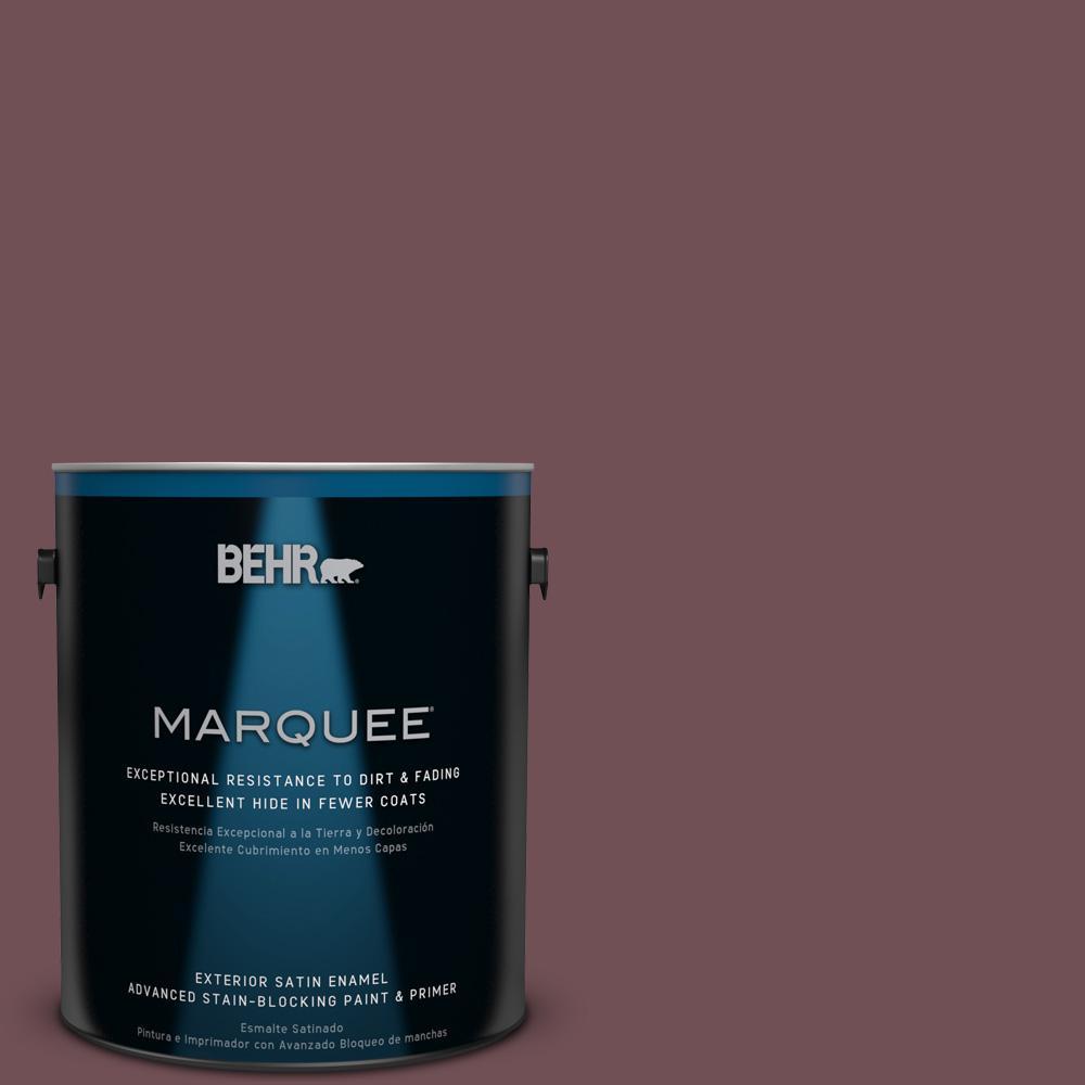 BEHR MARQUEE 1-gal. #180F-6 Brown Ridge Satin Enamel Exterior Paint
