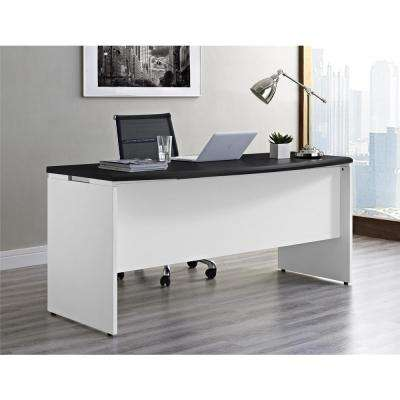 Altra Pursuit White and Gray Desk with Storage