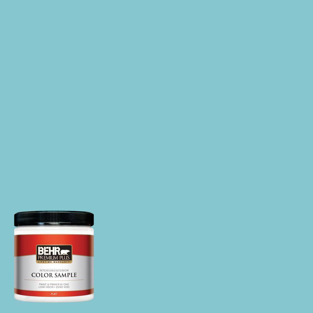 8 oz. #520D-4 Shallow Sea Interior/Exterior Paint Sample