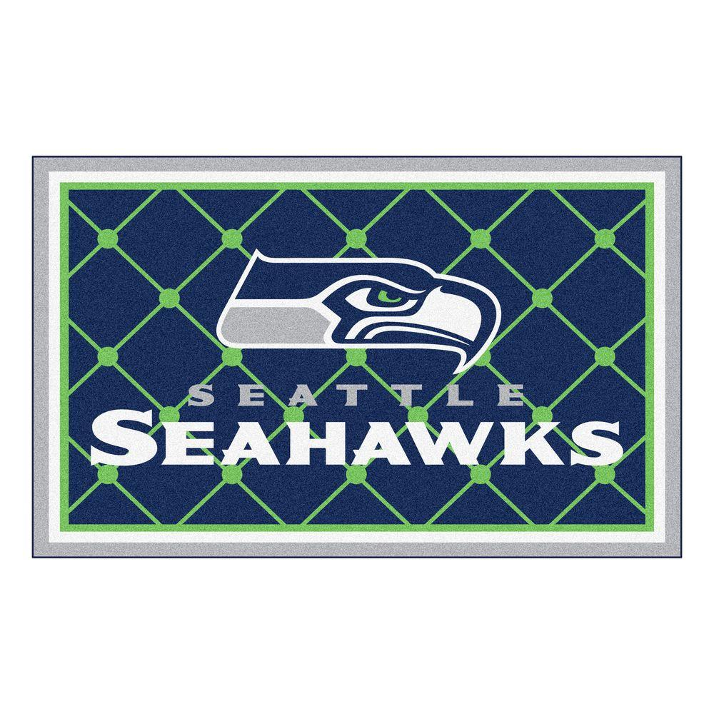 Fanmats Seattle Seahawks 4 Ft X 6 Ft Area Rug 6606 The