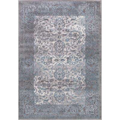 Thema Vintage Teal 8 ft. x 11 ft. Area Rug