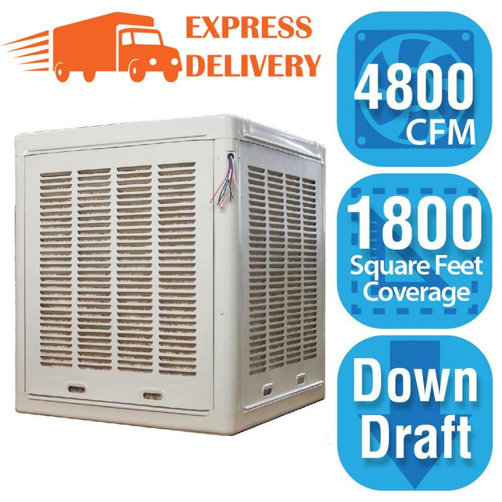 Hessaire 4 800 Cfm Down Draft Aspen Roof Side Evap Cooler