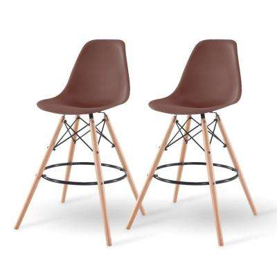 43 in. Brown Bar Stool (Set of 2)