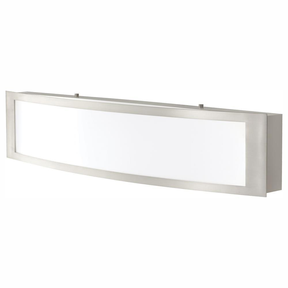 Home Decorators Collection 180 Watt Equivalent Brushed Nickel Integrated Led Vanity Light