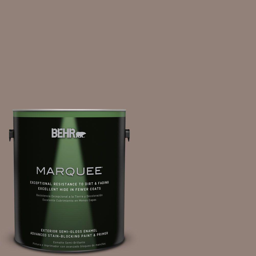 1-gal. #BNC-22 Chocolate Chiffon Semi-Gloss Enamel Exterior Paint