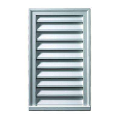 16 in. x 36 in. x 2 in. Polyurethane Functional Vertical Louver Gable Vent