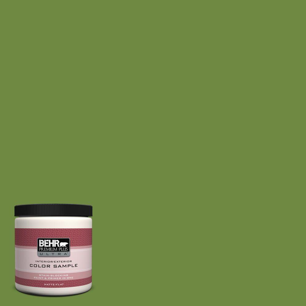 BEHR Premium Plus Ultra 8 oz. #S-H-420 Shamrock Interior/Exterior Paint Sample