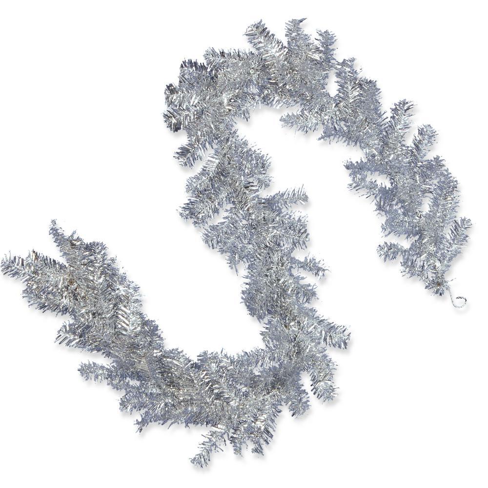 6 ft. Silver Tinsel Garland
