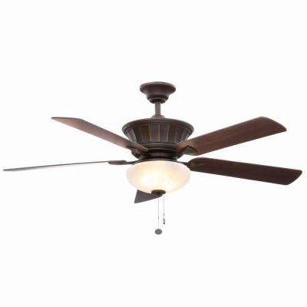Edenwilde 52 in. Indoor Oil Rubbed Bronze Ceiling Fan with Light Kit