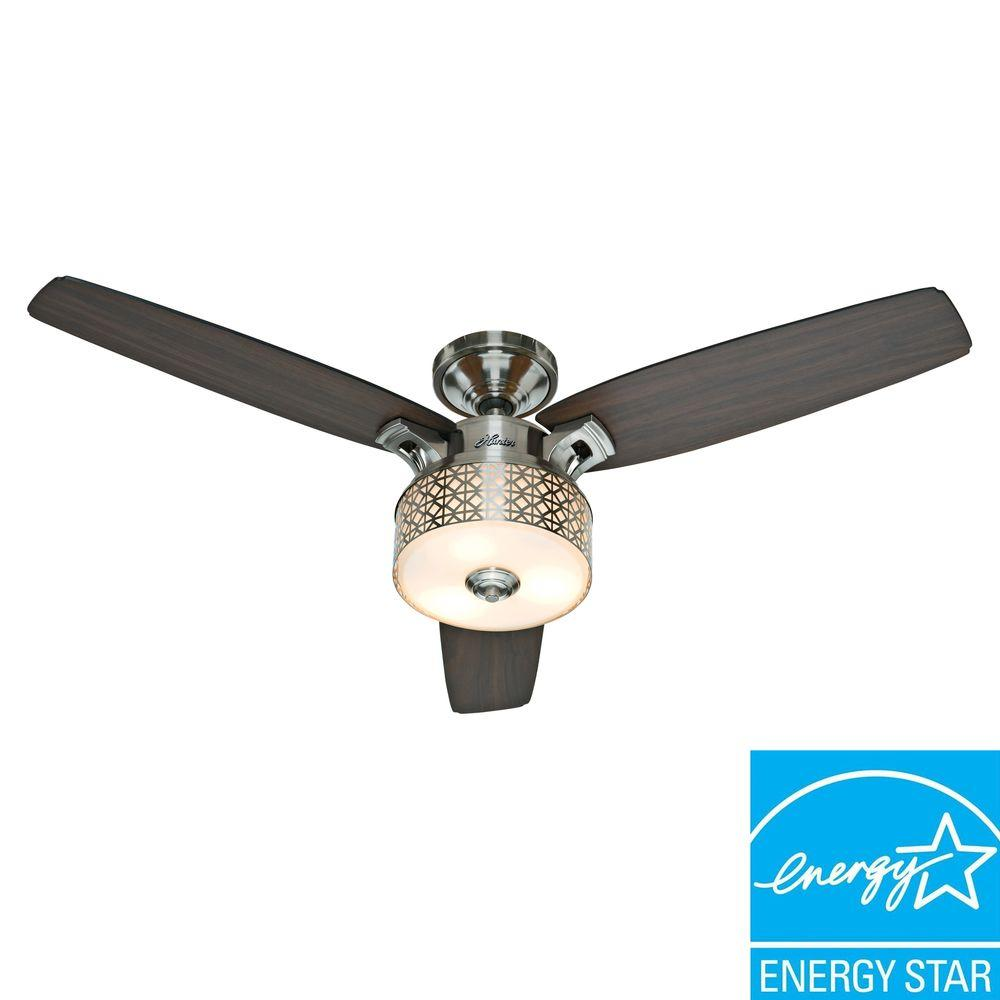 Hunter Camille 52 in. Brushed Chrome Ceiling Fan