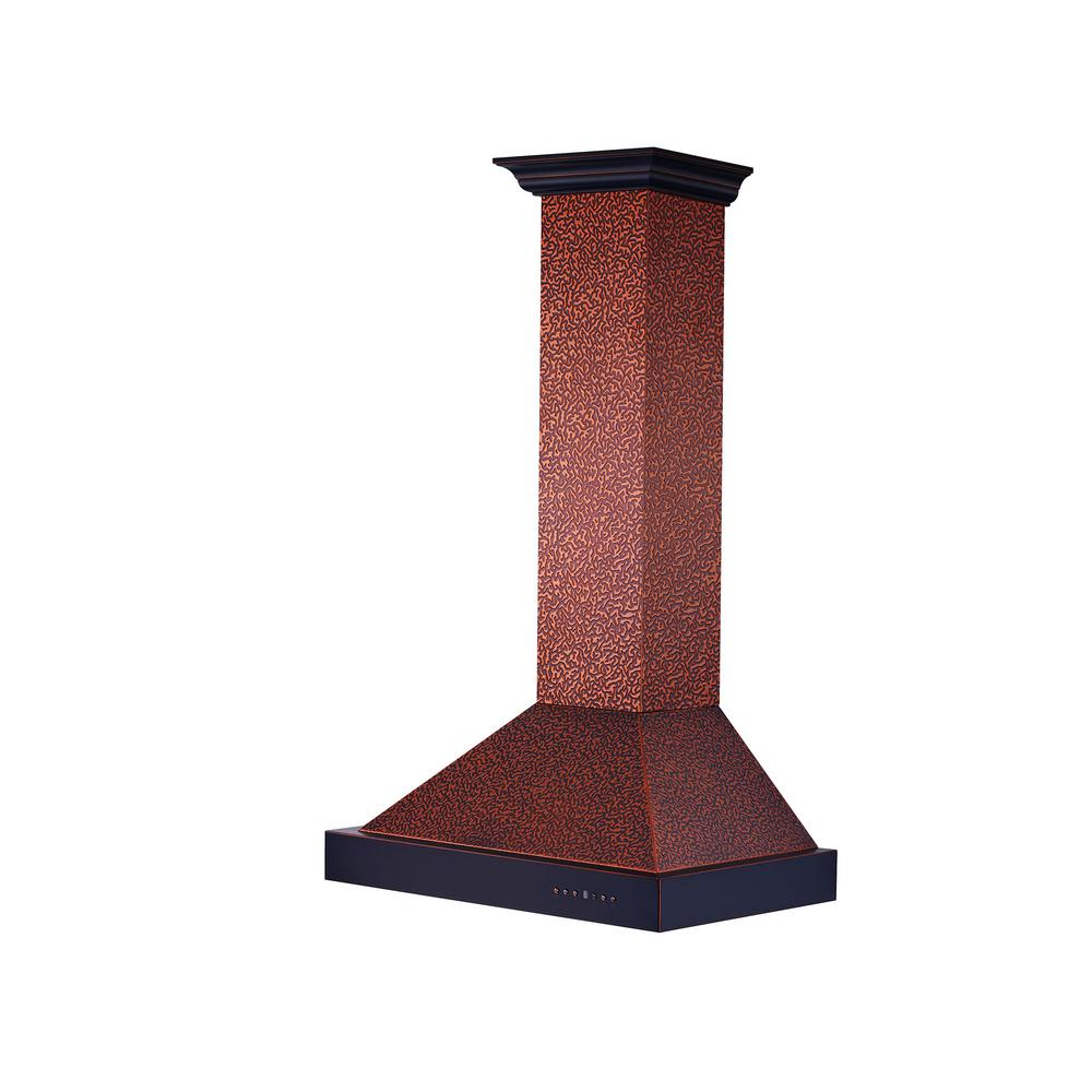 36 in. Convertible Wall Mount Range Hood in Oil-Rubbed Bronze