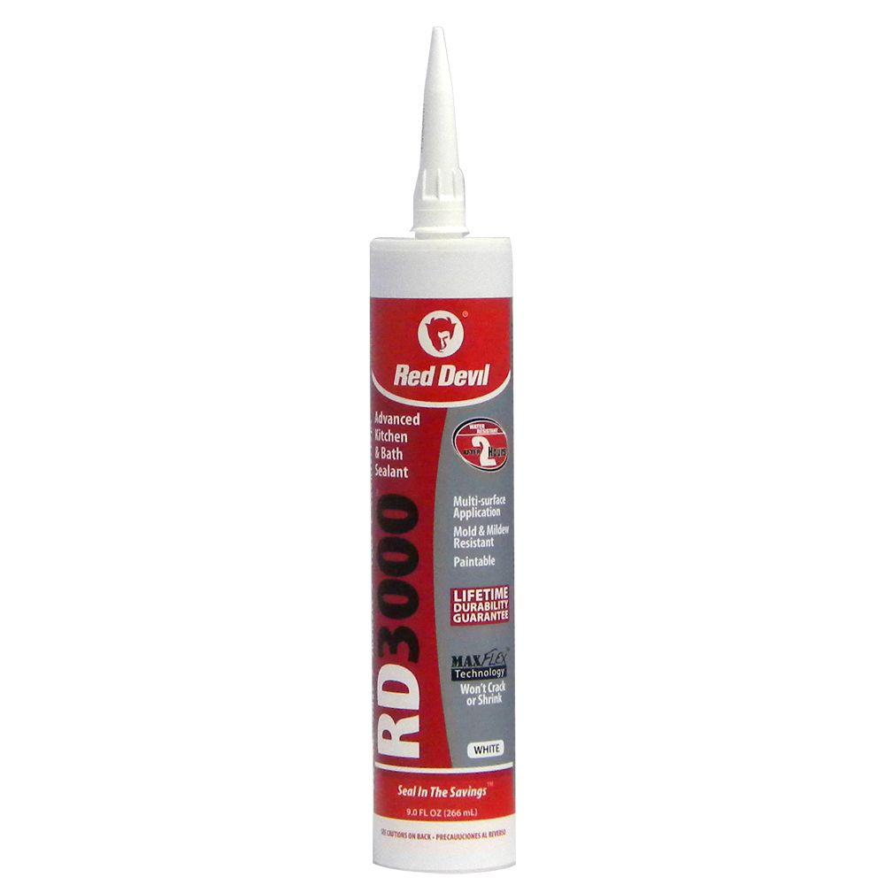 Red devil 9 oz rd3000 advanced kitchen and bath sealant 0996 the home depot - Exterior sealant paint decor ...