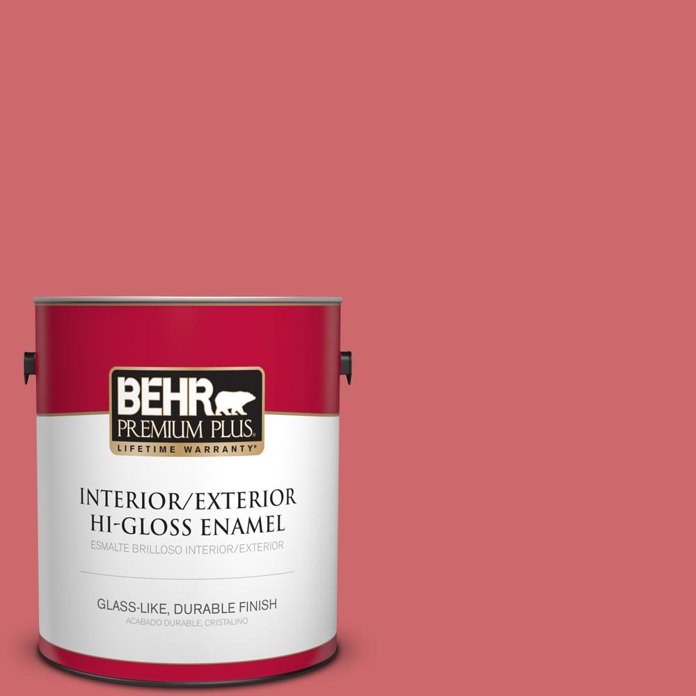 1 gal. #MQ4-2 Strawberry Wine Hi-Gloss Enamel Interior/Exterior Paint