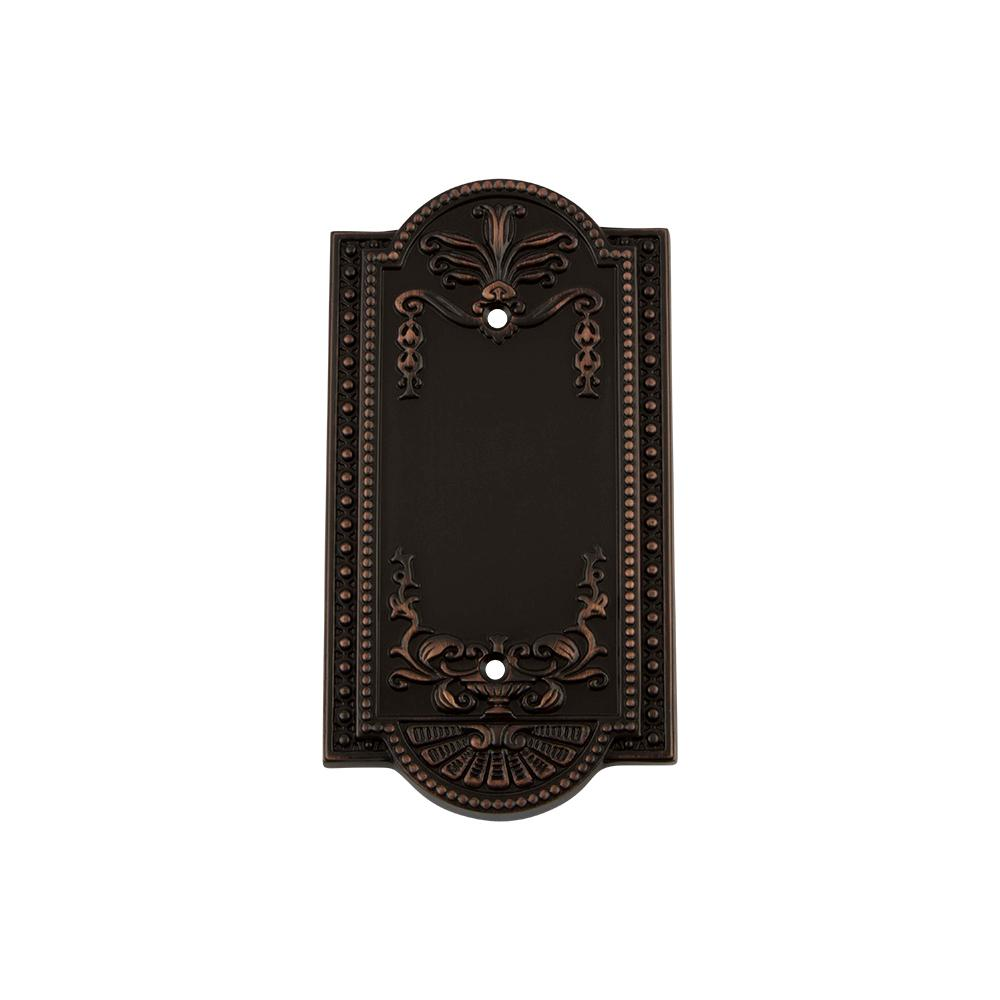 Meadows Switch Plate with Blank Cover in Timeless Bronze
