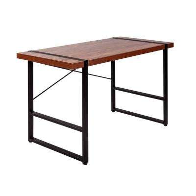 Bourbon Foundry Golden Cherry Writing Desk with Black Steel