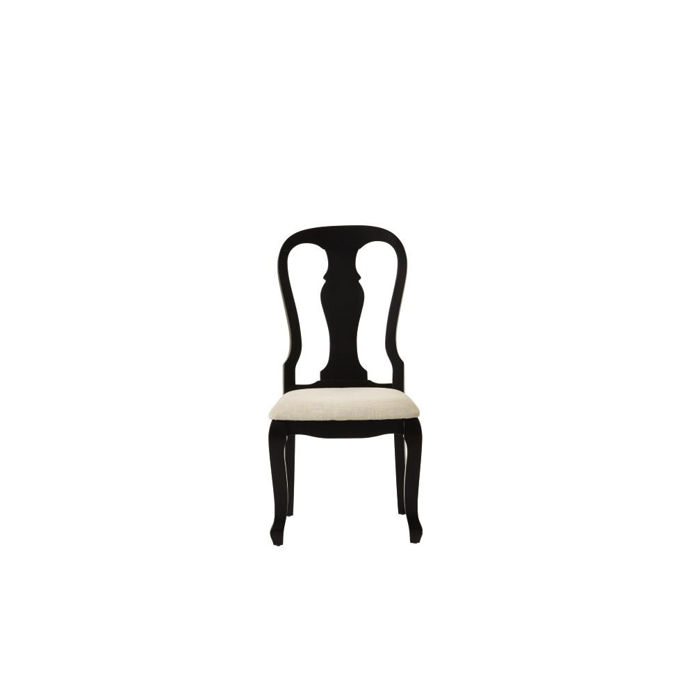 Fritz Black Dining Chairs with Cushion (Set of 2)
