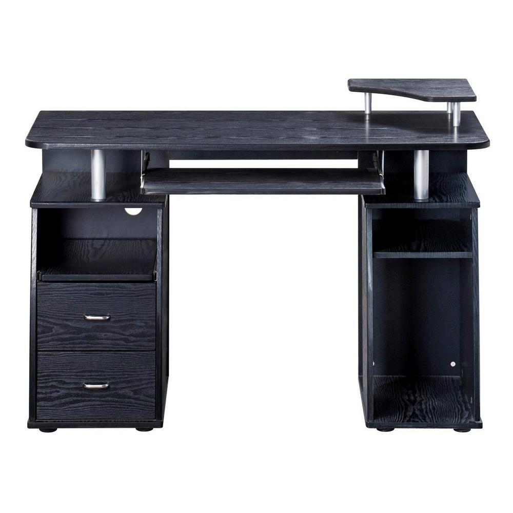 Techni Mobili Espresso Complete Computer Workstation Desk With Storage