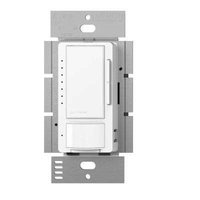 Maestro C.L Dimmer and Vacancy Motion Sensor, Single Pole and Multi-Location, White