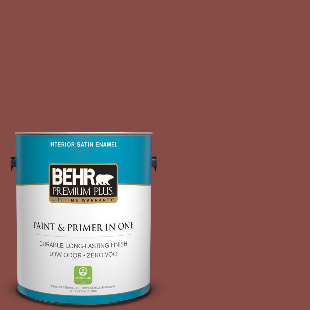 1-gal. #S150-6 Spiced Berry Satin Enamel Interior Paint