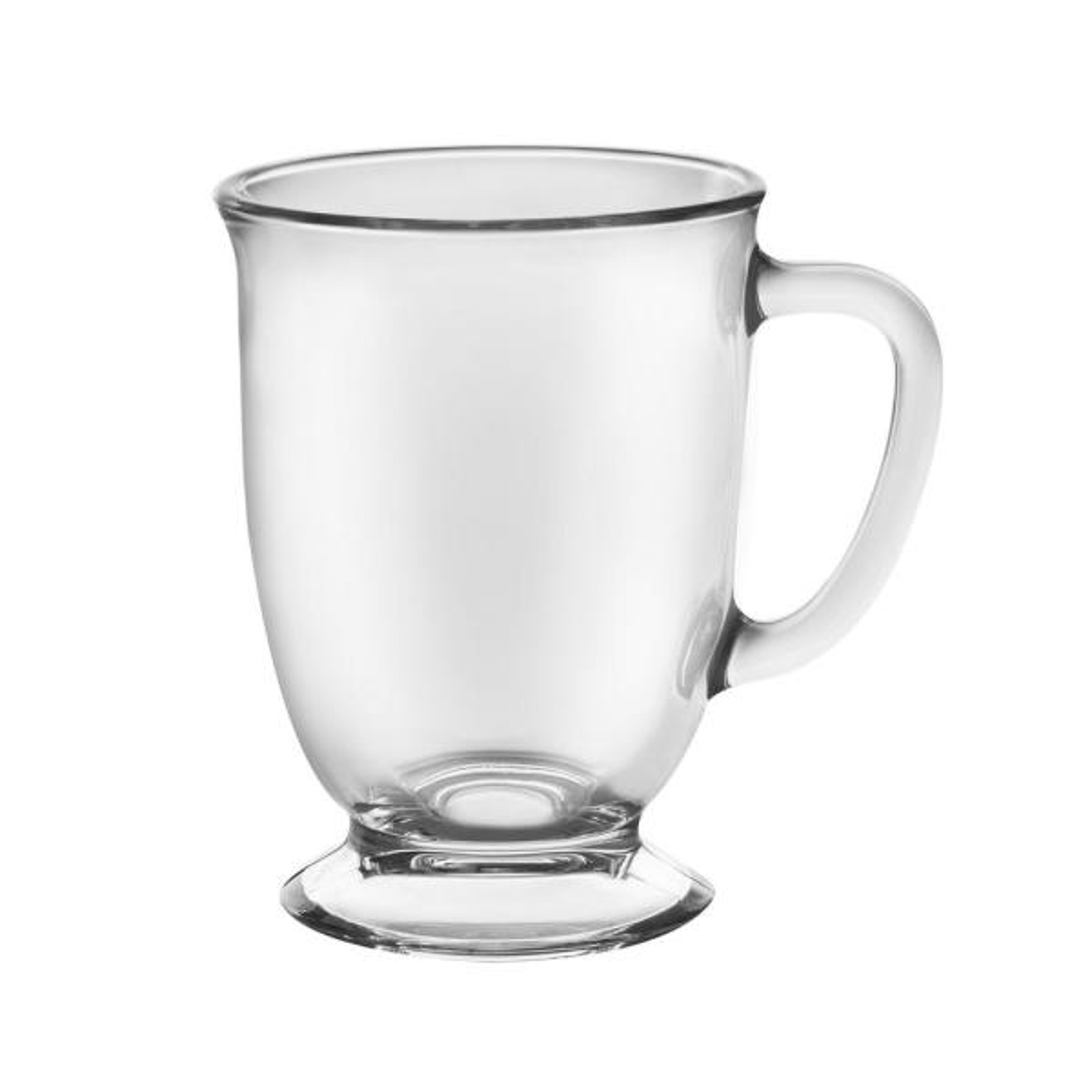 Kona 16 oz. Clear Glass Mug (Set of 6)