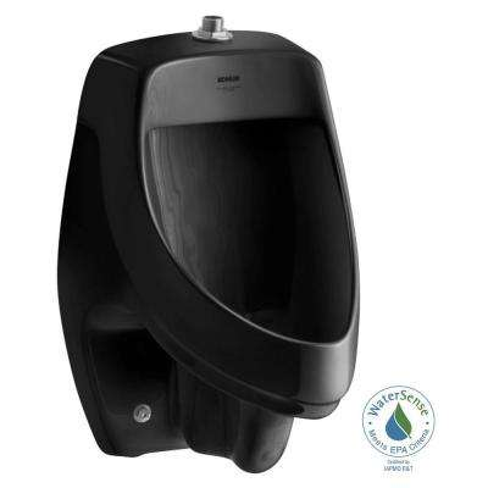 Dexter 1.0 GPF Urinal with Top Spud in Black Black