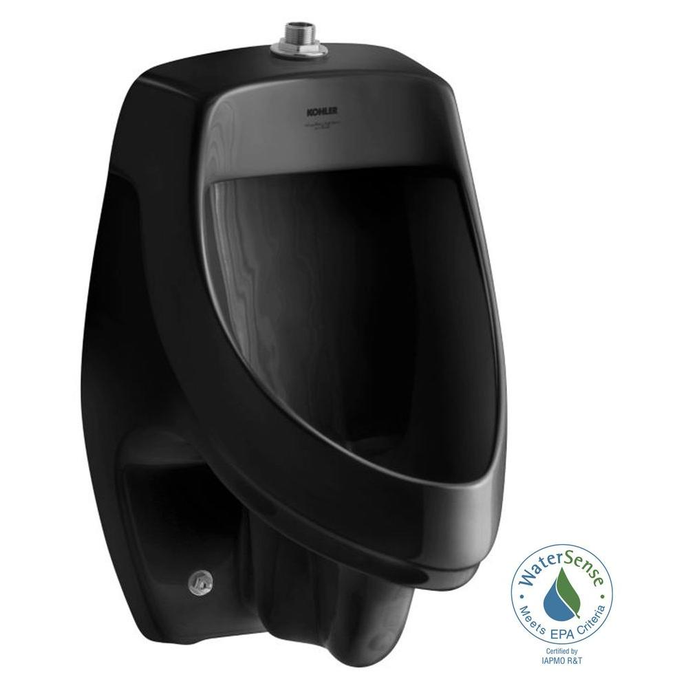 Dexter 1.0 GPF Urinal with Top Spud in Black Black