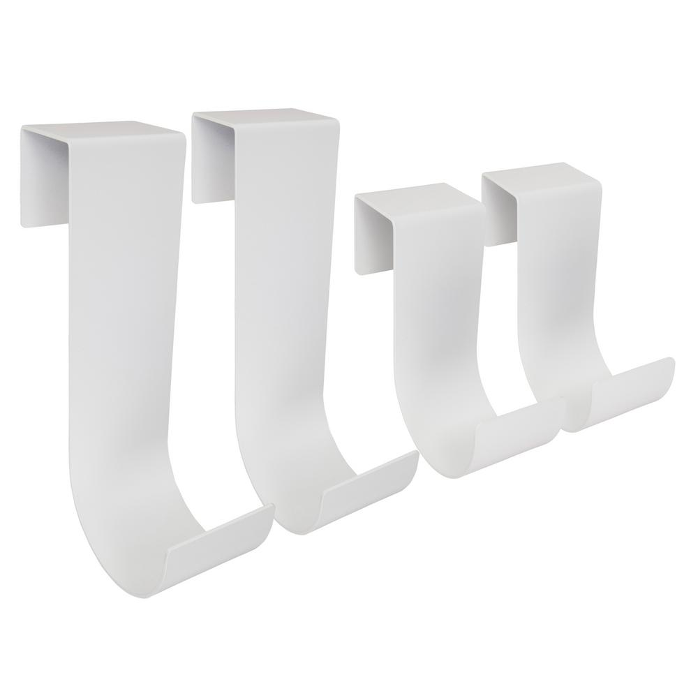 White Aluminum Slip On Fence Hook Fits 1-1/4 in. to 1-5/8