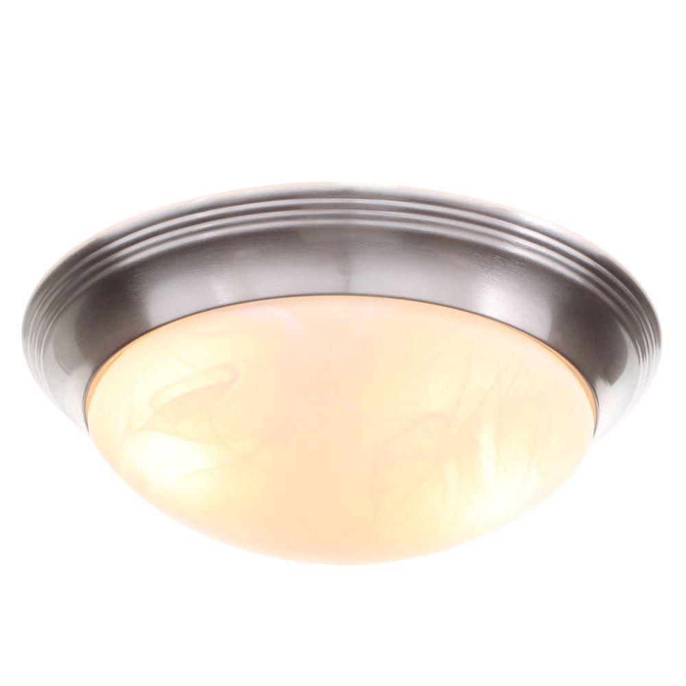 Progress lighting alabaster glass collection 2 light brushed nickel progress lighting alabaster glass collection 2 light brushed nickel flushmount p3689 09 the home depot arubaitofo Choice Image