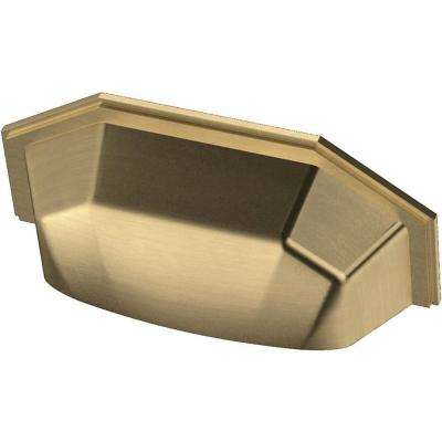 Faceted 3 in. (76 mm) Champagne Bronze Cup Drawer Pull (10-Pack)