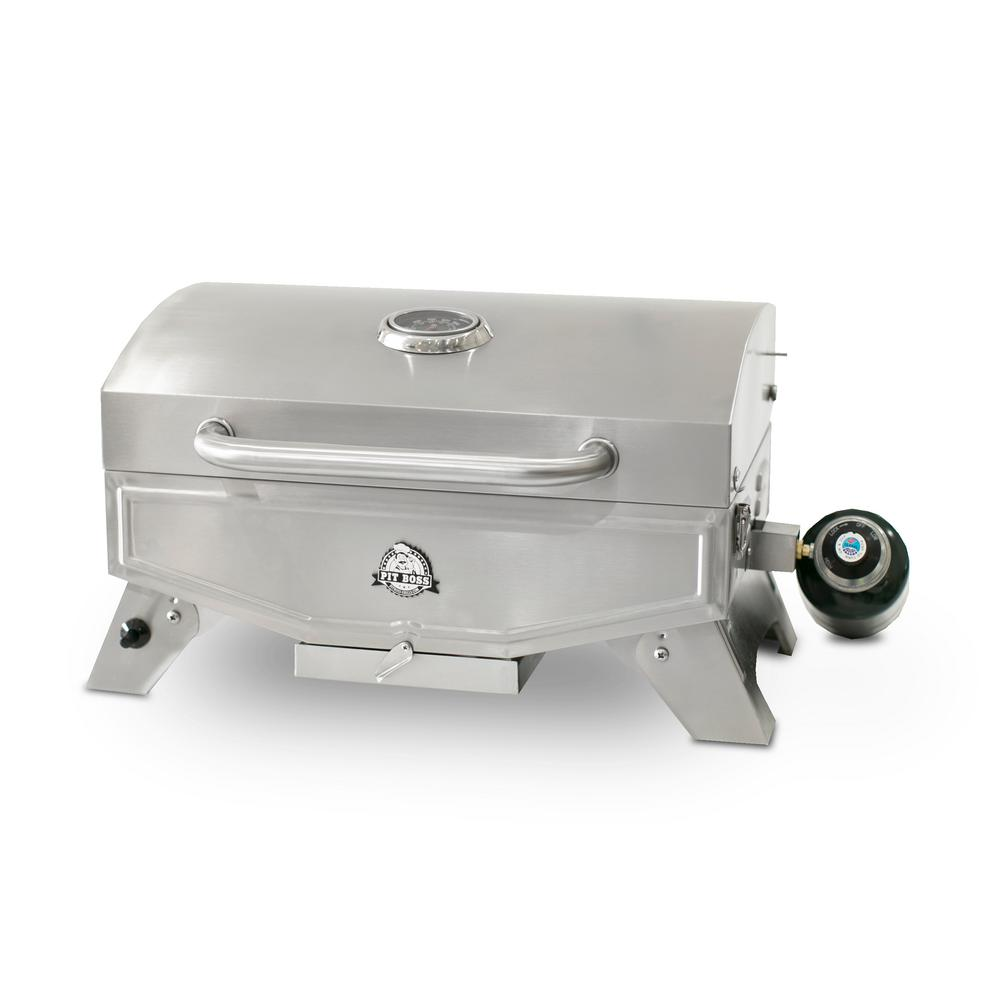 Pit Boss Stop Single Burner Portable LP Gas Grill In Stainless Steel