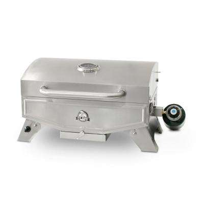 Stop Single-Burner Portable LP Gas Grill in Stainless Steel
