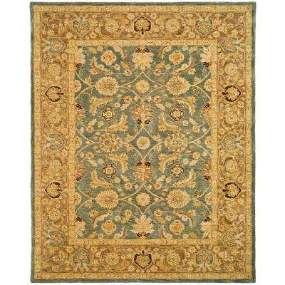 Anatolia Blue/Brown 9 ft. x 12 ft. Area Rug